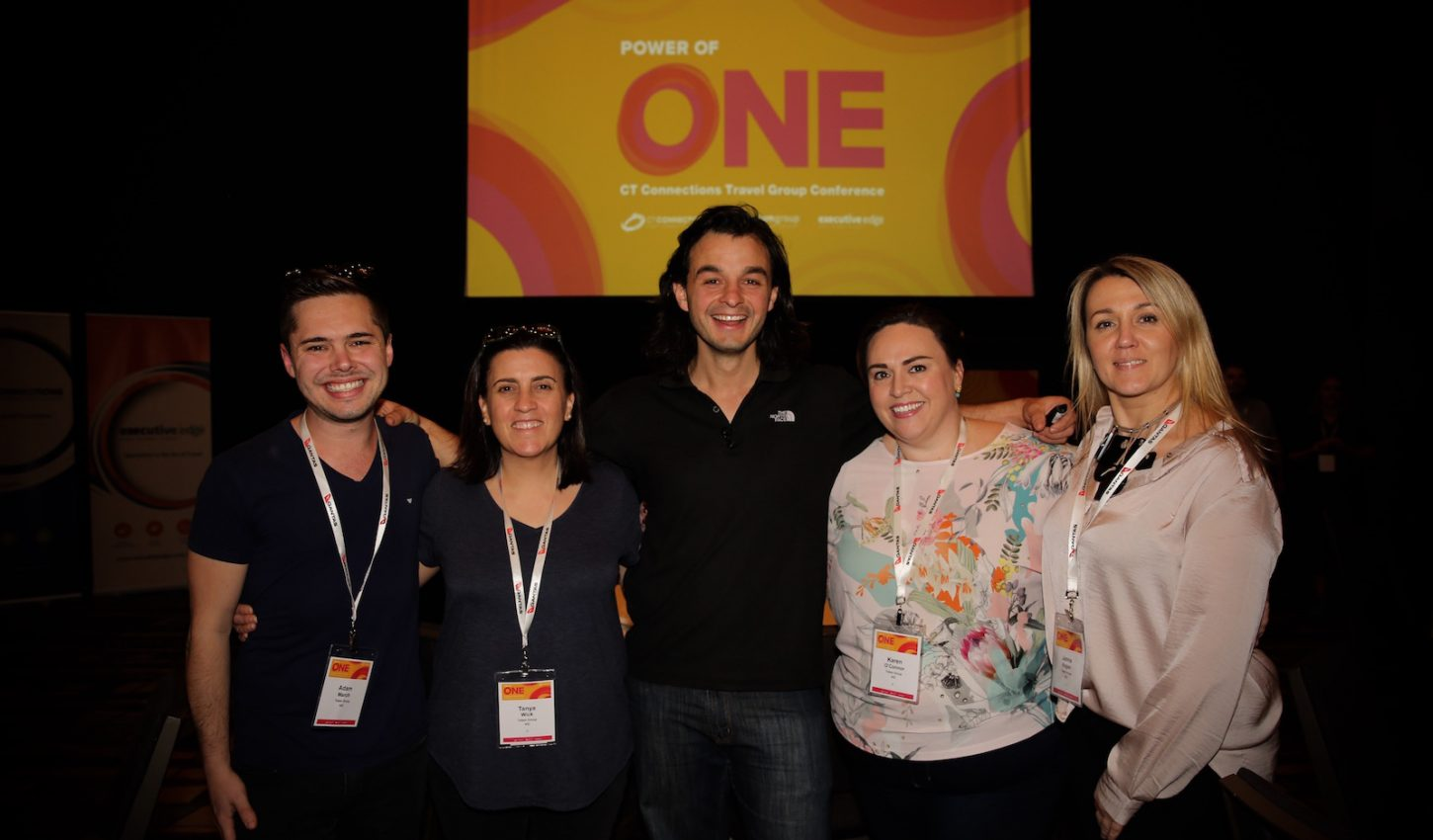 Power of One: James Castrission with the team from Totem Group at a CT Connections Travel Group conference recently.