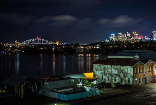Sydney skyline from Cockatoo Island.
