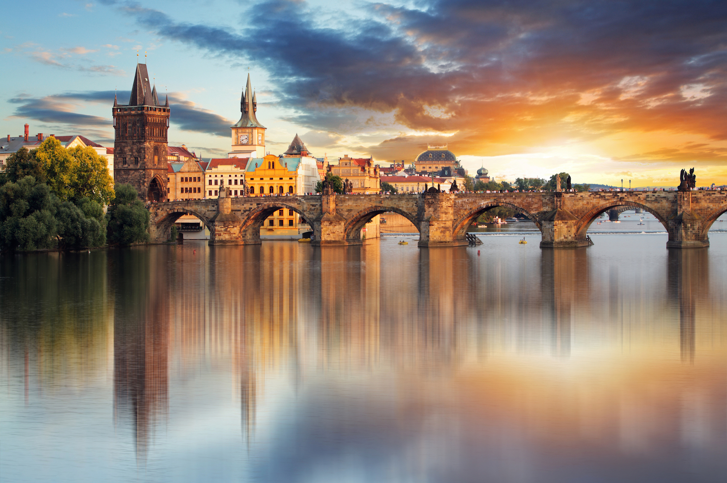 Prague Charles Bridge Czech Republic