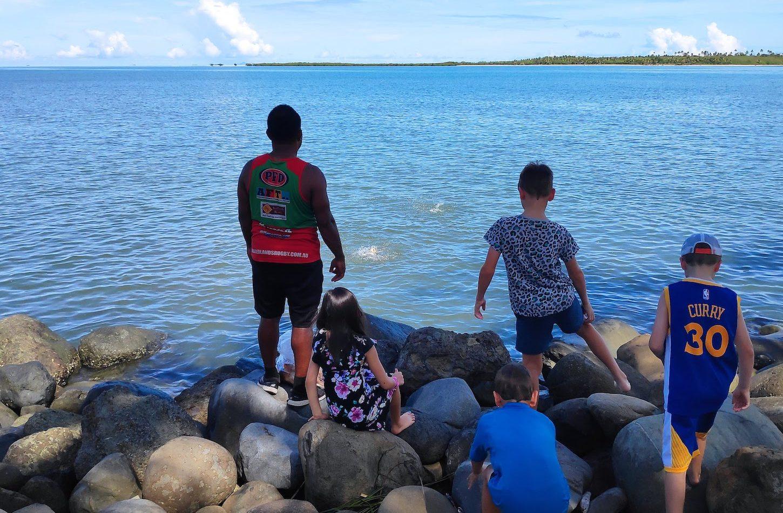 Fish feeding Westin Fiji