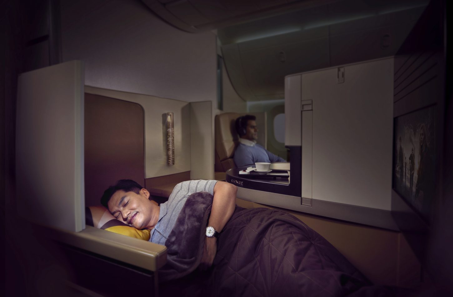 flat bed first etihad