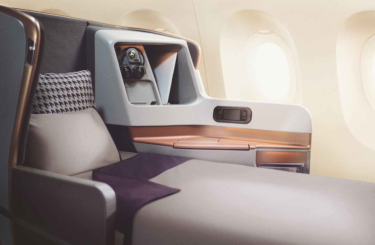 SQ A350 lie-flat Business