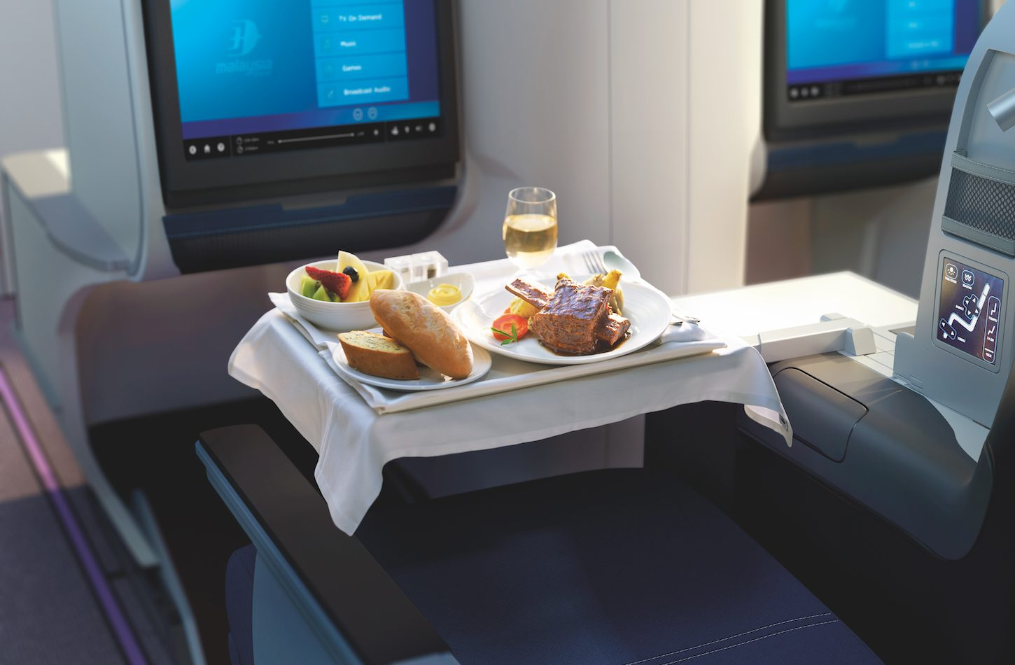 Malaysia Airlines Business Class food